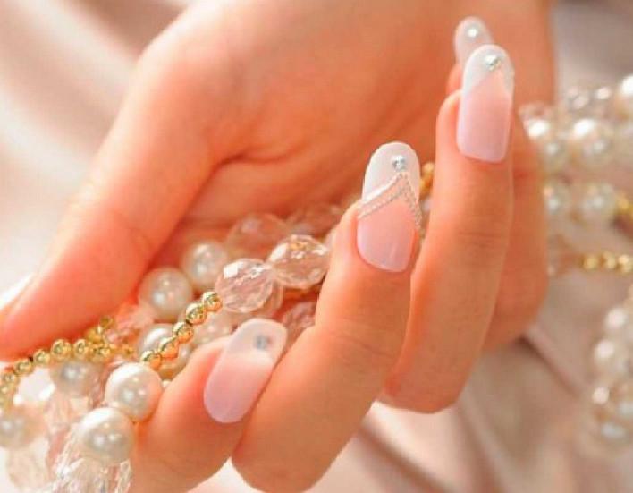 Маникюр свадебный на свои ногти фото дизайн 2016