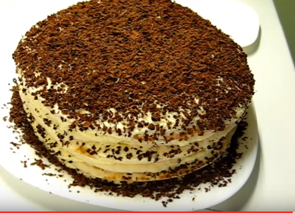 Быстрое приготовление торты из сгущенки