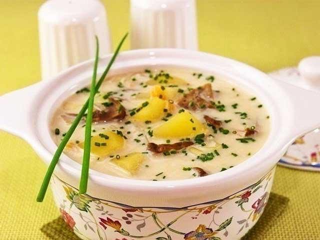 Сырный суп с грибами с плавленным сыром пошаговый