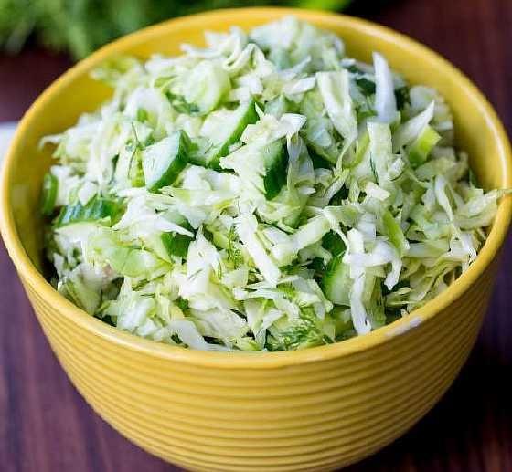 Калорийность салат из капусты и огурца