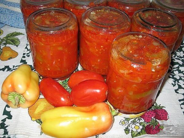 Лечо из перца и помидор болгарский рецепт