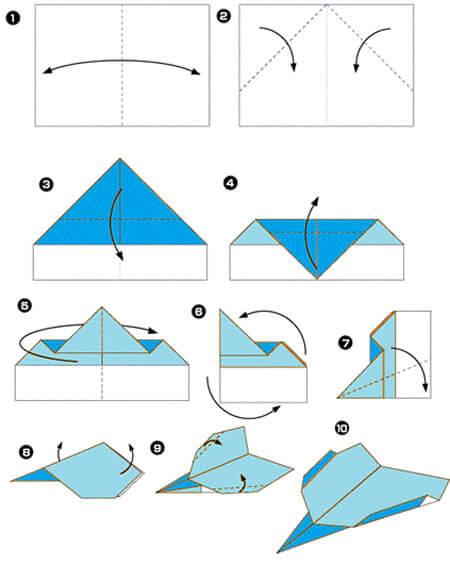 Как сделать самолетики оригами