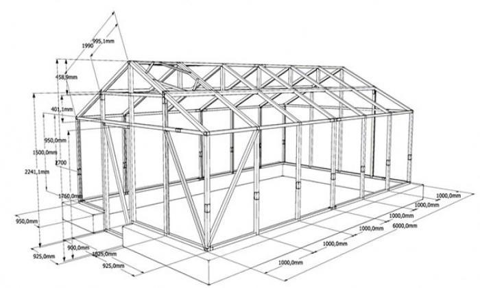 Теплица из профиля для гипсокартона своими руками: проект и чертеж конструкции