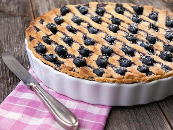 Песочный пирог с черникой - 10 пошаговых фото в рецепте