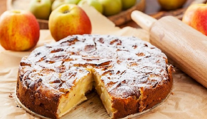 Шарлотка с яблоками рецепт с фото пошагово в духовке с разрыхлителем пышная