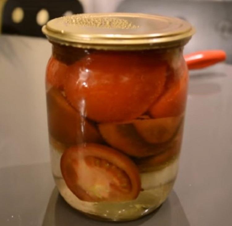 Резаные помидоры на зиму без стерилизации простой рецепт