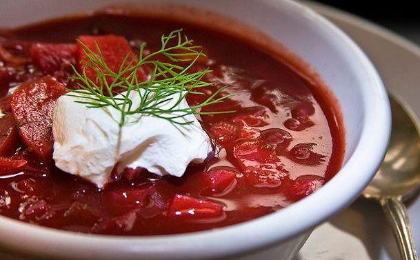 Как готовить борщ со свеклой красный