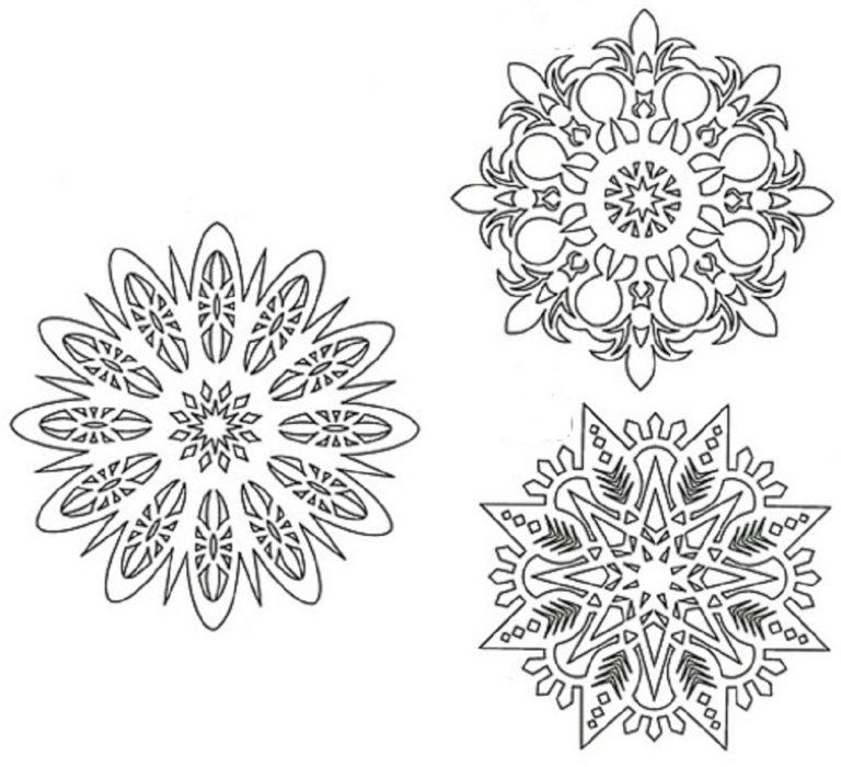 Вытынанки снежинки новогодние шаблоны