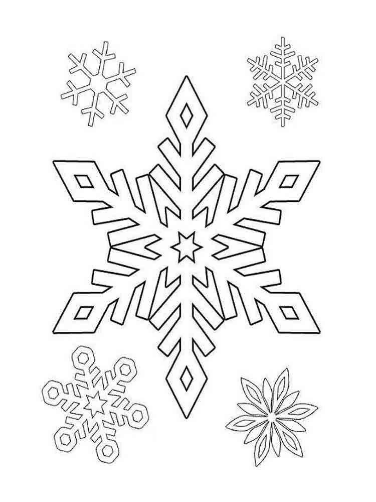 Вытынанки со снежинками