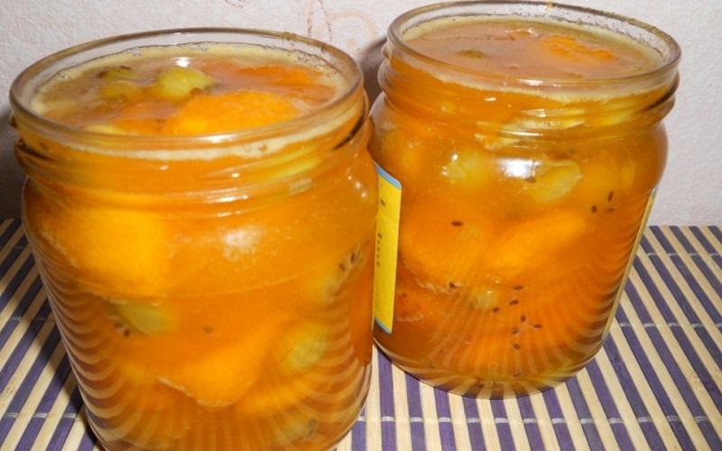 Варенье из абрикосов с крыжовником